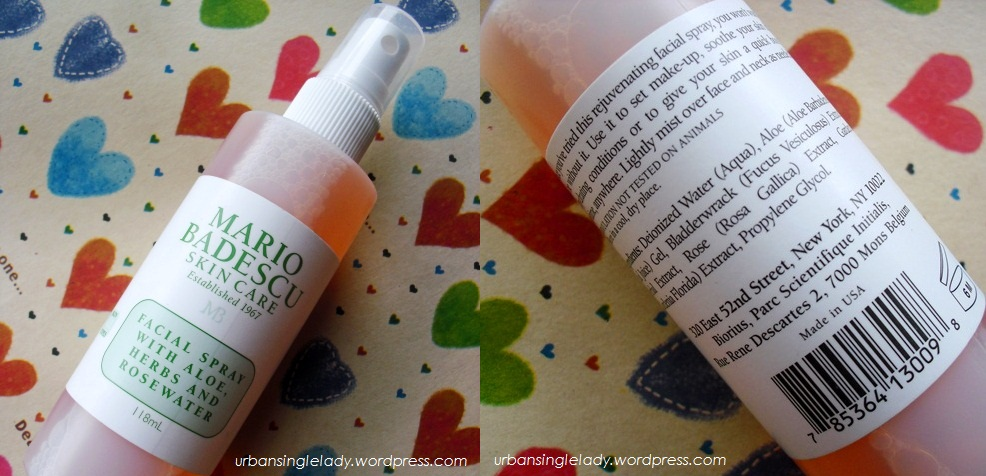 Review Mario Badescu Facial Spray With Aloe Herbs And